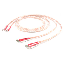 1Pair 3M OCC Bi Wire Speaker Wire Cable HiFi amp Rhodium Banana 2 TO 4 Plug