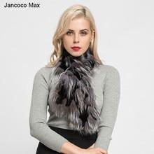 Scarf Jancoco Max Shawls Real-Fox-Fur Fashion-Style Winter Women's Muffler Autumn S7179