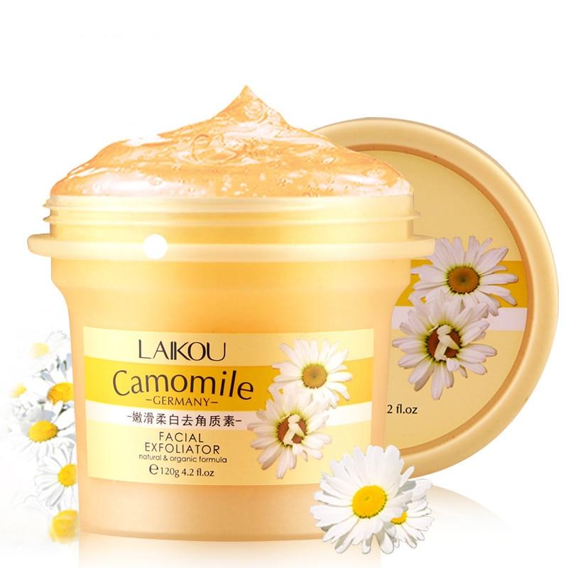 LAIKOU Facial Scrub Removal Natural And Organic Facial Exfoliator Exfoliating Cream 120g Whitening Peeling Cream Gel Face Pores