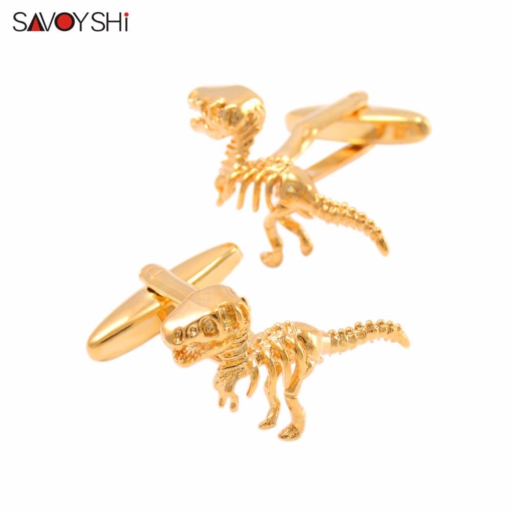 SAVOYSHI Modeling-Cufflinks Shirts Dragon High-Quality Jewelry-Design Animal Men Gift