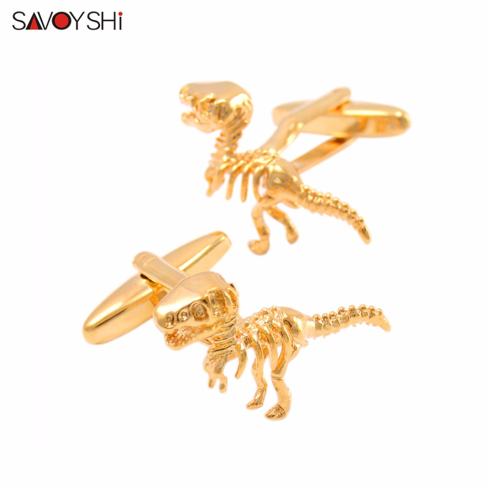 SAVOYSHI Fashion Dragon Modeling Cufflinks For Mens Shirts High Quality Brand Novelty Animal Cuff Link Jewelry Design Men Gift