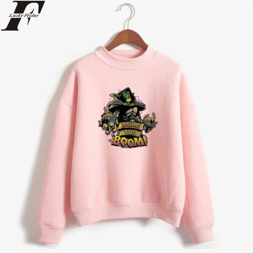 LUCKYFRIDAYF Hip Hop Hearthstone Turtlenecks Hoodies Game Anime Sweatshirts Casual Kpop Women Hoodies Casual Clothes Plus Size in Hoodies amp Sweatshirts from Women 39 s Clothing