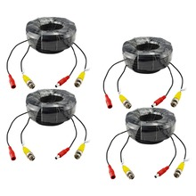 SANNCE 4 X 100ft 30M Security Camera Video Power Cable Cord BNC RCA Wire for CCTV Camera and DVR in CCTV system