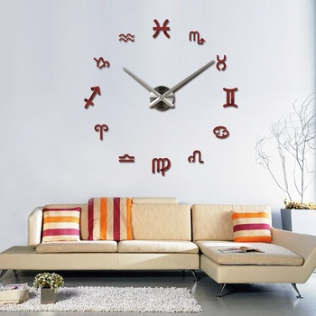new fashion diy wall clock europe 3d big quartz watch clocks living room large home decorative still life circular stickers 12