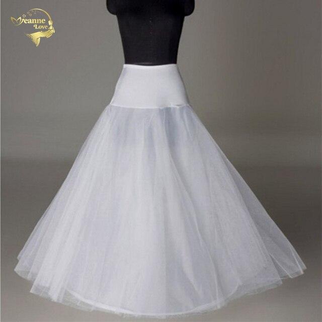 Hot Bridal Slips Wedding Underskirt White Underdress Falda Brautpetticoat Long Crinoline Sottoveste A Line Petticoat Layer 0019