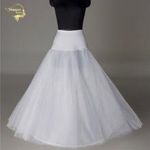 ホットブライダル結婚式のアンダー白簡素過ぎる服装ファルダ brautpetticoat ロングクリノリン sottoveste a ラインペチコート層 0019