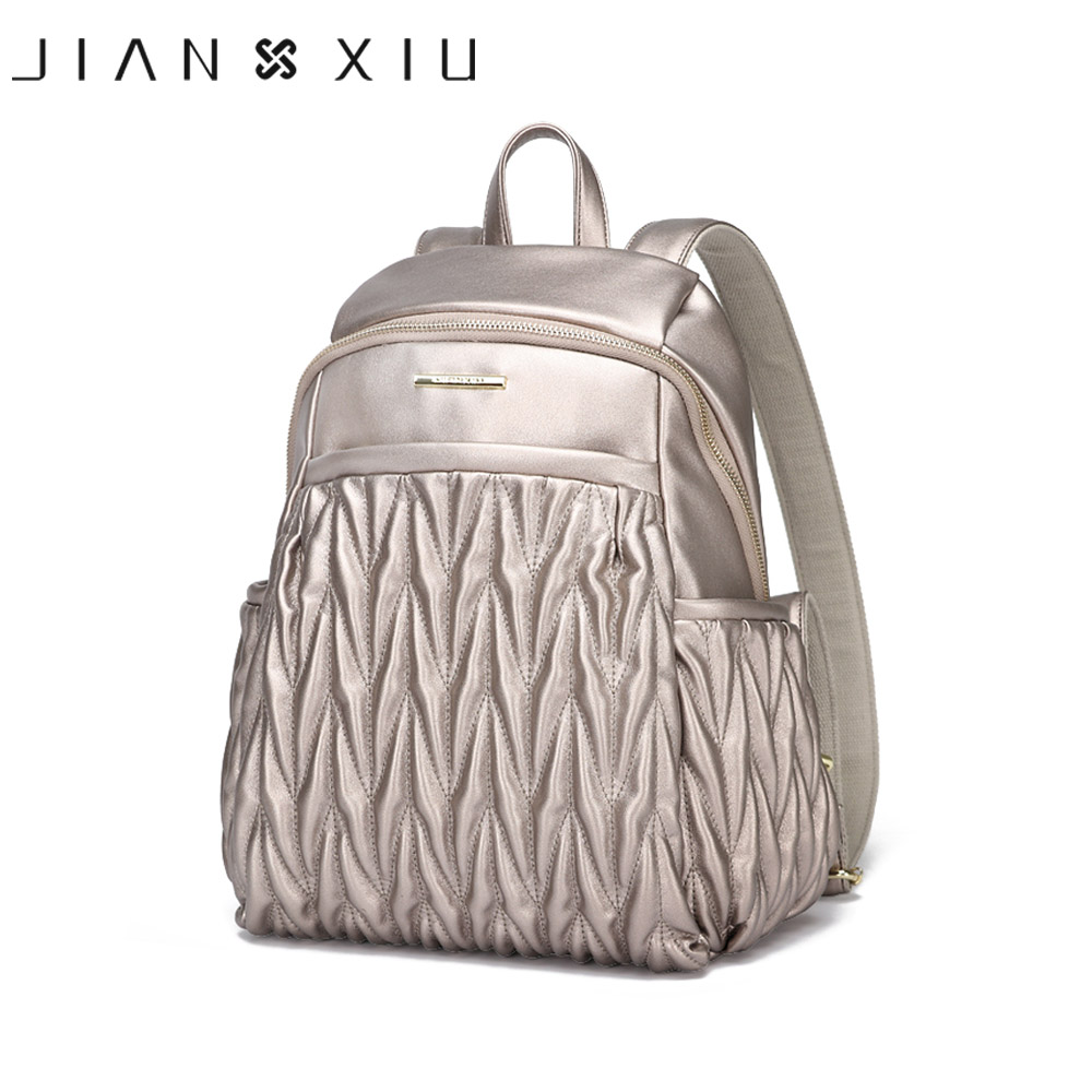 JIANXIU New Backpack Mochila Feminina Mochilas School Bags Women Bag Pu Leather Backpacks Travel Mochilas Mujer Rugzak Back Pack