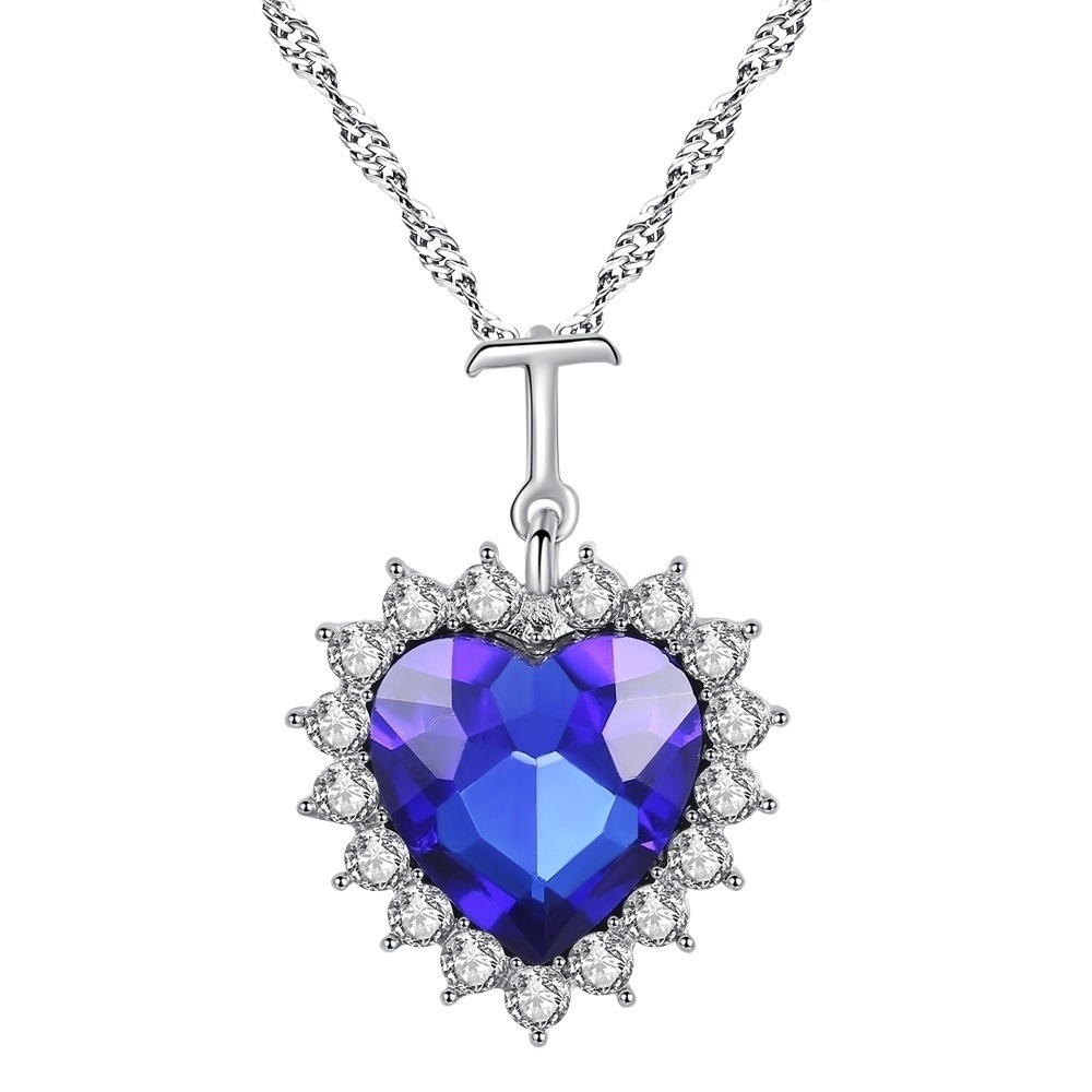 0cbcfdf8b2c7 Collar de corazón de océano clásico en forma de T colgante de joyería