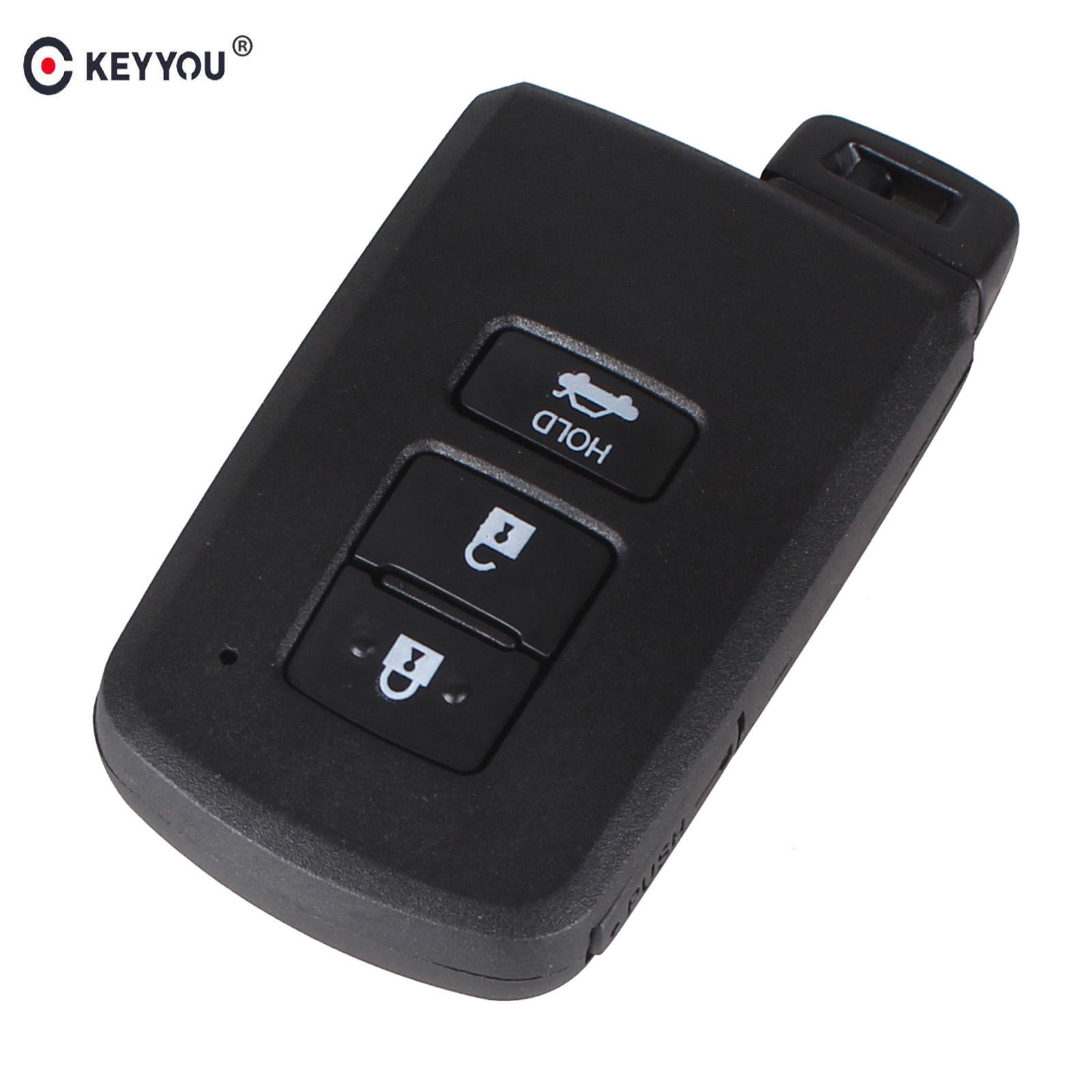 KEYYOU Replacement Smart Remote Key Shell Case Fob 3 Button For Toyota Avalon Camry replacement 3 button smart key housing case for ford dark red