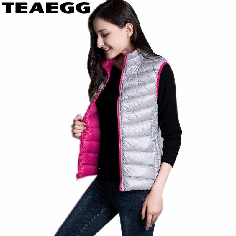 TEAEGG Thin 90% White   Down   Jackets 2019 Both Size Wear Ultra Light   Down   Jacket Women Clothing Vest   Down     Coats   Women Parkas AL185