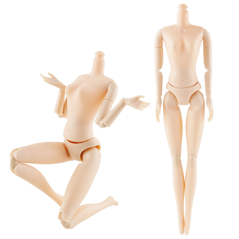 New 20 Movable Joints Female Doll Body 26cm 1/6 Naked Nude Body Dolls Plastic Princess Doll Gifts Fashion Toy For Girls(China)