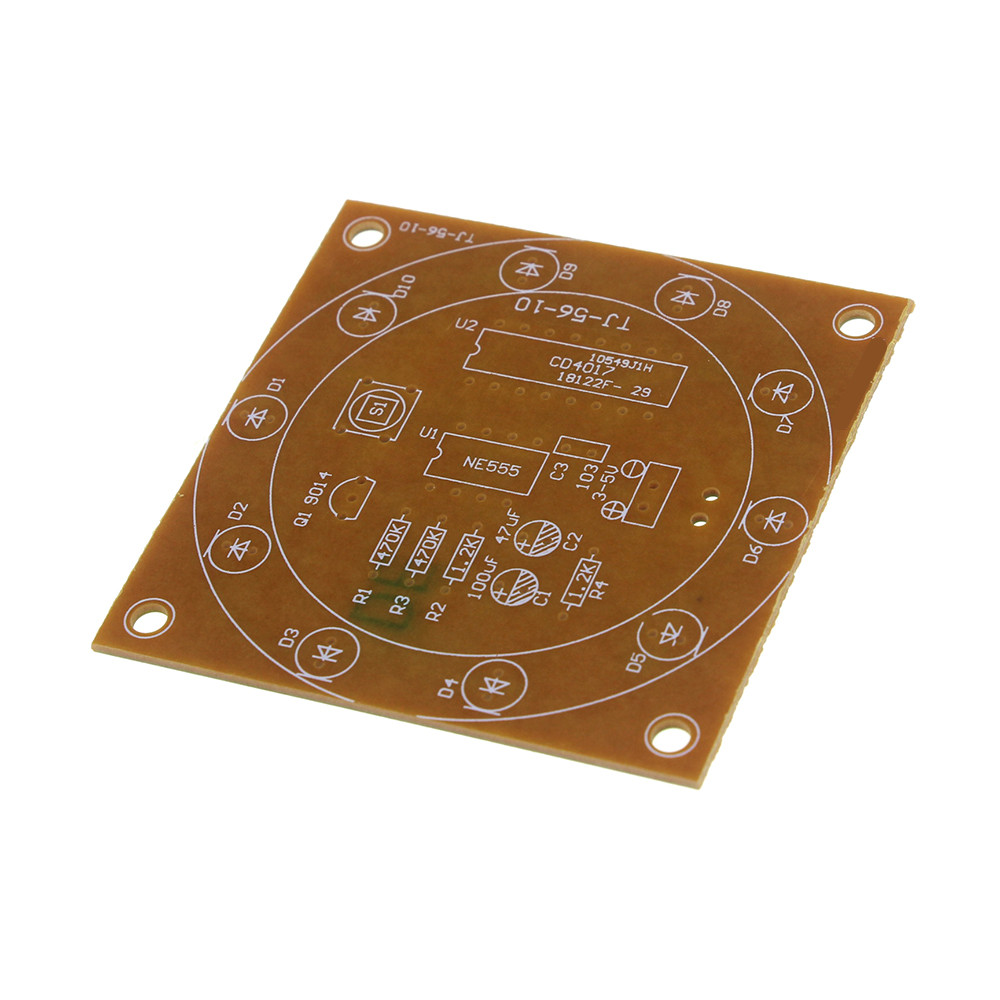 Buy Round Lucky Rotary Suite Electronic Component Random Number With Cd4017 1pcs Ne555 Kit