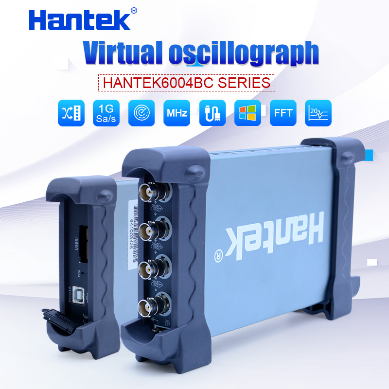 Hantek USB <font><b>Oscilloscope</b></font> kit 70MHz <font><b>100MHz</b></font> 200MHz 250MHz 4CH analog channels 1GSa/s PC <font><b>Oscilloscope</b></font> support Winows 7 8 10 DIY image