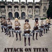 Haloween Costumes Levi Cosplay Attack On Titan Costume Shingeki No Kyojin Rivuai Jacket Pant All In