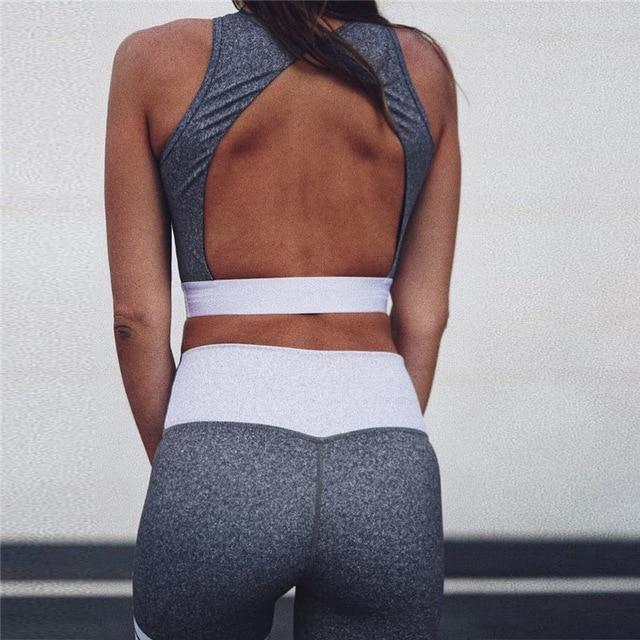 JINXIUSHIRT נשים כושר כושר בגדי יוגה ספורט חזייה + ארוך מכנסיים ריצה סטים חזק ריצה אימון יוגה חותלות ספורט חליפה