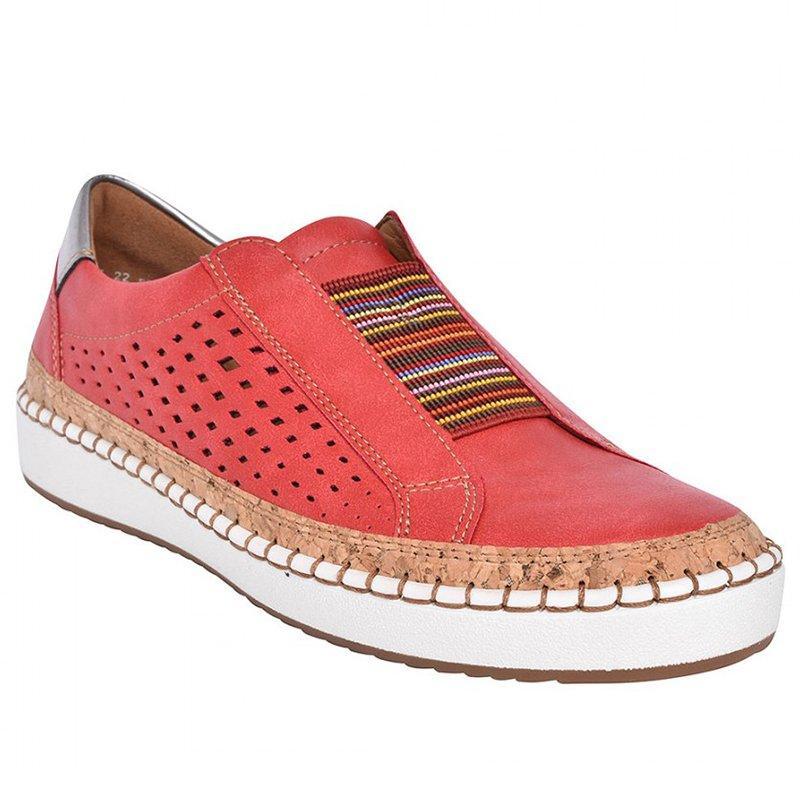 Экспресс-; женская обувь; повседневная обувь из вулканизированной кожи; кроссовки; женские удобные слипоны; лоферы на плоской подошве; zapatos mujer; Прямая поставка - Цвет: red