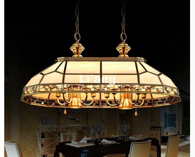 Free Shipping Nordic Luxury LED Copper Chandelier lights Brass Pendant Chandelier Lights European Luxurious Glass Pendant Lamp