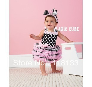 2013 new arrival girl dress kids/children crown princess dress size 80-100 for girls 1- 4years old