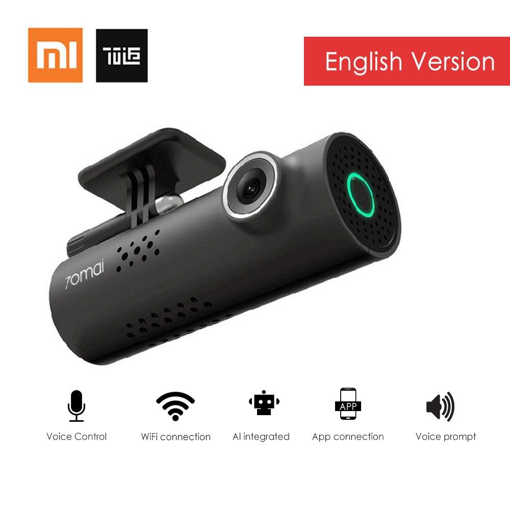 Xiaomi 70mai смарт-dash Cam Wi-Fi Видеорегистраторы для автомобилей английская версия 1080 P 130 градусов Широкий формат голос Управление Камера запись Но...