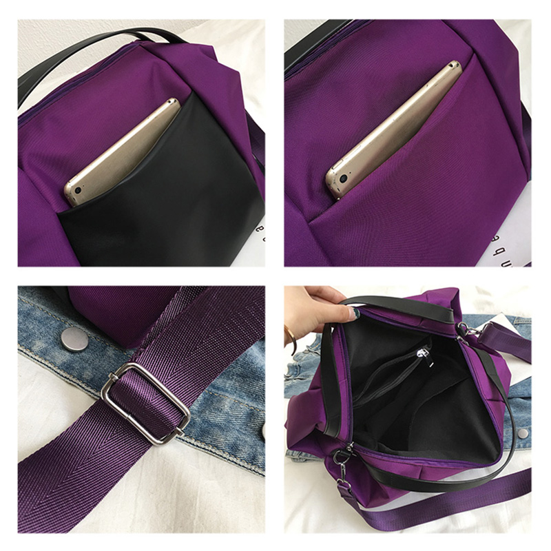 Large Capacity Women Beach Bags Shoulder Mummy Handbag WaterProof Nylon Folding Tote Long Large Capacious Shopping Bags 37