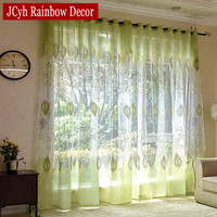 Modern Window Sheer Tulle Curtains For Living Room Luxurious Green Curtain For Bedroom Kitchen Curtains Cupboards