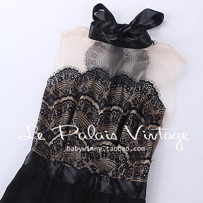 Le Slim Dentelle Nouveau Gratuite Manches Robe Sans 2016 Palais Femmes Sexy Livraison Élégante Couture Robes Cru Vêtements Été Noir 5xS6qqFw