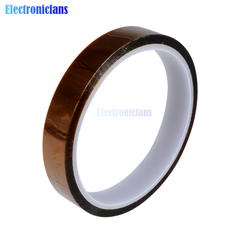 15mm 1.5cm 33m 100ft Tape High Temperature Heat Resistant Polyimide(China)