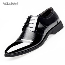 IMAXANNANew 2018 Men Casual Shoes Leather Summer Luxury Brand Flat Shoes for Men office shoes men SIZE 38-45
