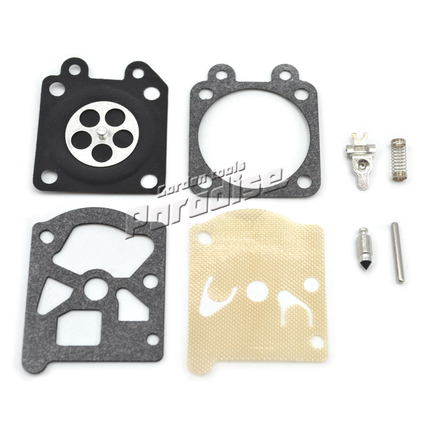 2 Sets * Chainsaw Carburetor Repair Kit with Screw Pin for 4500 5200 5800 Chain Saw Carbs Diaphragm Gasket Replacement 5sets zama c1q s57b carburetor carbs repair diaphragm kit for chainsaw spare parts replacement