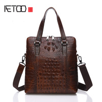 AETOO Quality Advantage Handbag Briefcase Crocodile Pattern High Grade Leather Handbag Briefcase