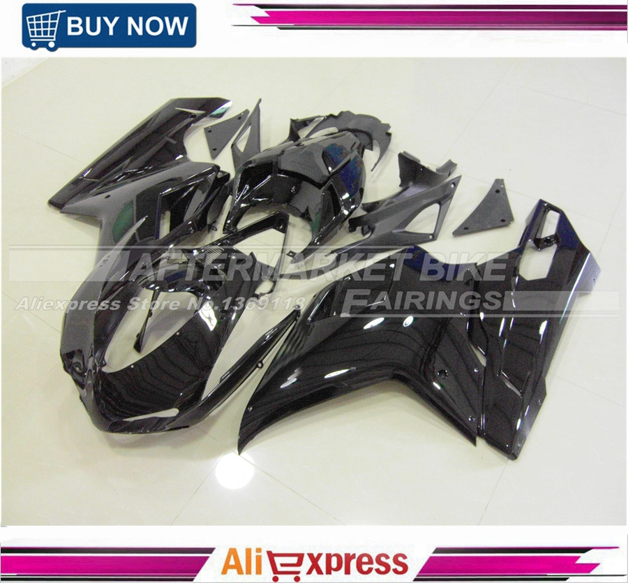 Motorbike Gloss Black Injection ABS Fairings For Ducati 1098 848 1198 1098s 848s 1198s 2007 2008 2009 2010 2011 2012 Bodyworks abs chrome front grille around trim for ford s max smax 2007 2010 2011 2012