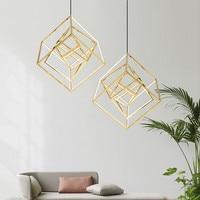 Постмодерн геометрический площади подвесной светильник Nordic Золотой дизайнер обеденный Гостиная висит свет Hotel вилла светильники