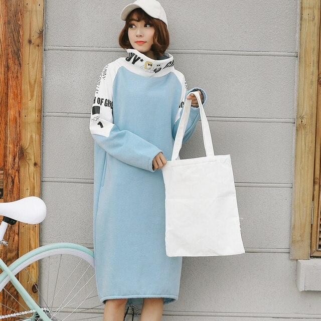 2016 Harajuku ветер бархат утолщение платье Материнства Материнства платье грудное вскармливание платье