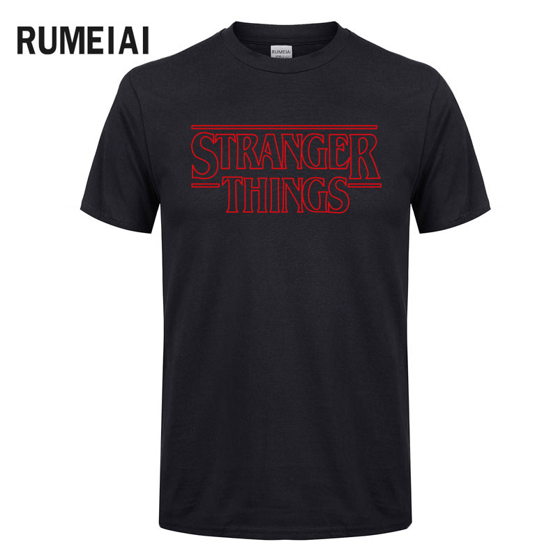 New 2019 Stranger Things Inspired Top Shop Unisex Mens Womans Tv Horror New   T     Shirts   Letter Print Cotton Fashion Tees & Tops