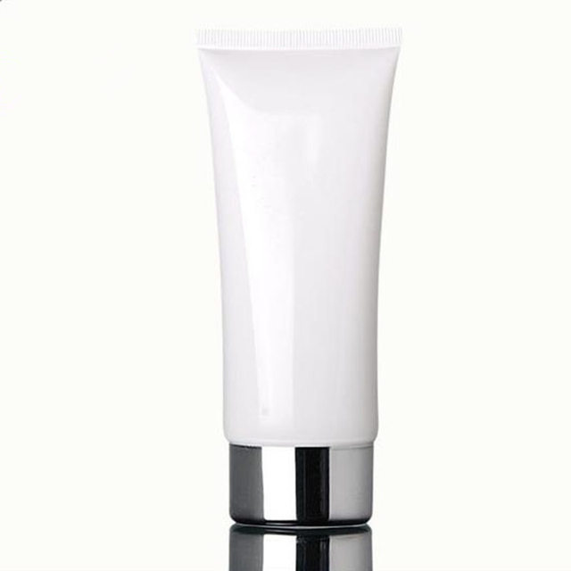 100ml White Amber Soft Tube Black Pp Cap Cream Lotion