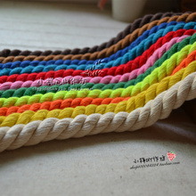 1.2 cm diameter *10m crude stocks 3 color blue, green and coarse cotton rope tied decorative materials DIY rope цена и фото