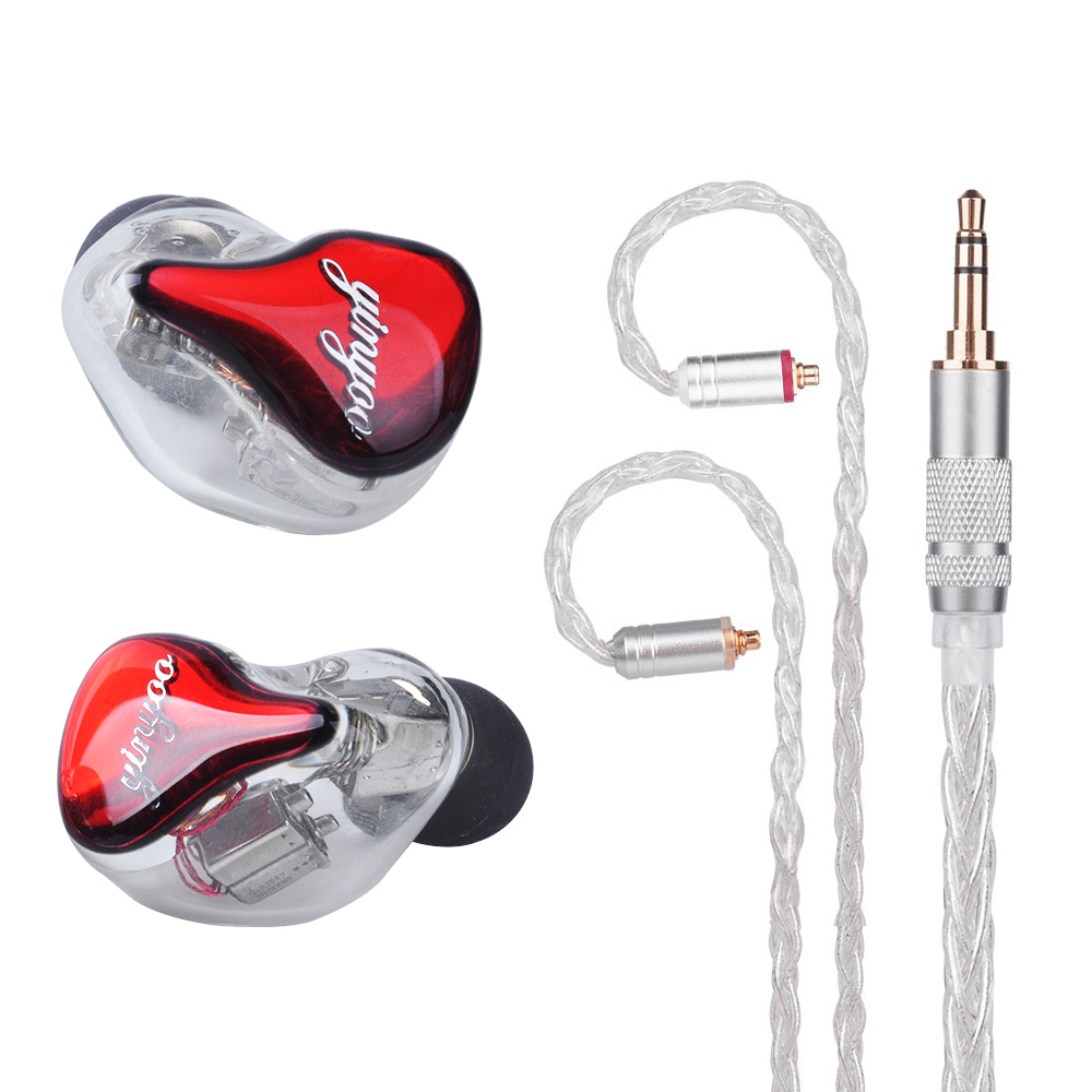 Yinyoo HQ10 10BA In Ear Earphone Custom Made Balanced Armature Earphone Headset Earbuds MMCX for Shure Se215 Se535 Se846