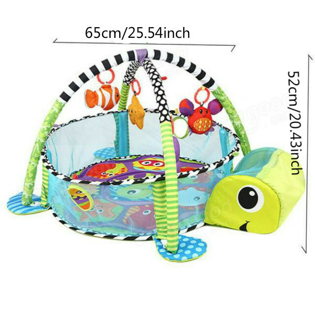 3 In 1 Baby Play Mat Round Lion Turtle Crawling Blanket Infant Game Pad Play Rug Kids Activity Mat Gym Folding  Tapete Infantil