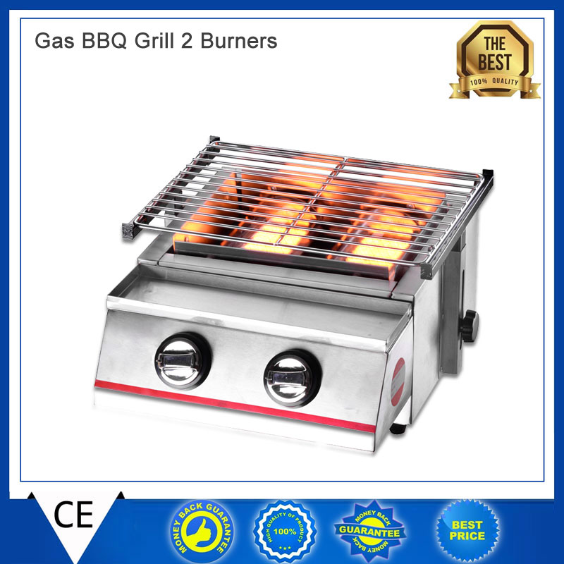 Itop BBQ Gas Grills Barbecue Stove Portable Flat Environmental for Indoor Outdoor Nonstick Roasting Tray Gas Grill LPG