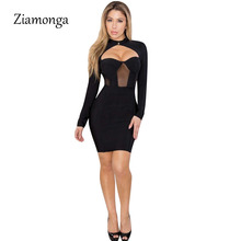 51130d05fd Buy sexy black cut out long sleeves bodycon dress and get free ...