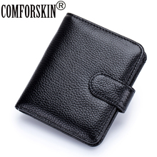 COMFORSKIN Brand Fashion Two-fold Magnetic Buckle Woman Wallet Carteira Feminina 2018 Guaranteed 100% Cow Leather Women