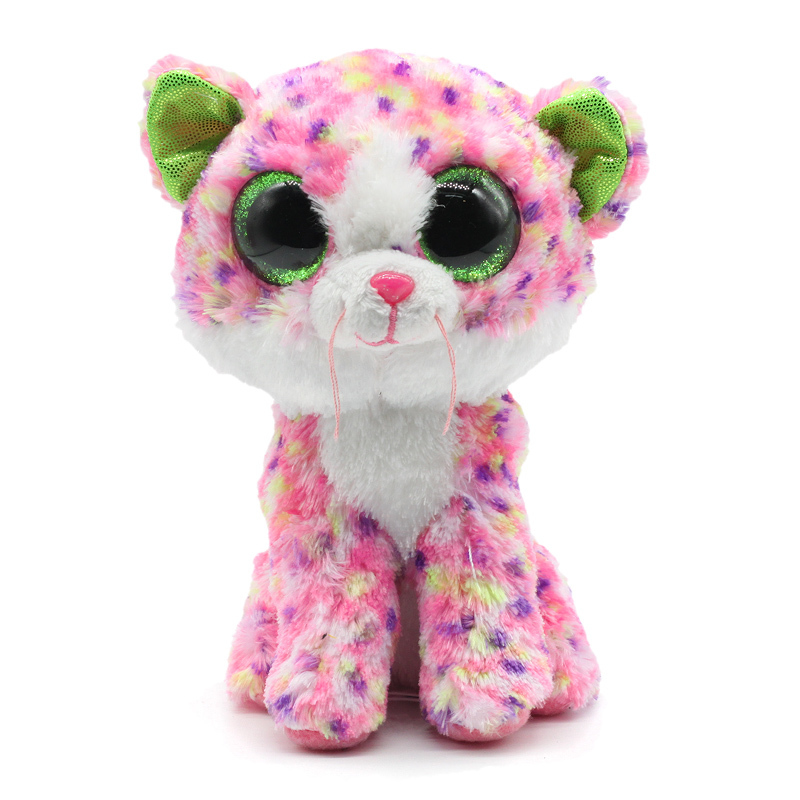 Новый Ty Beanie Боос оригинальные большие глаза Плюшевые игрушки куклы 15 см Софи-розовый кот TY ребенка для детей со дня рождения подарки