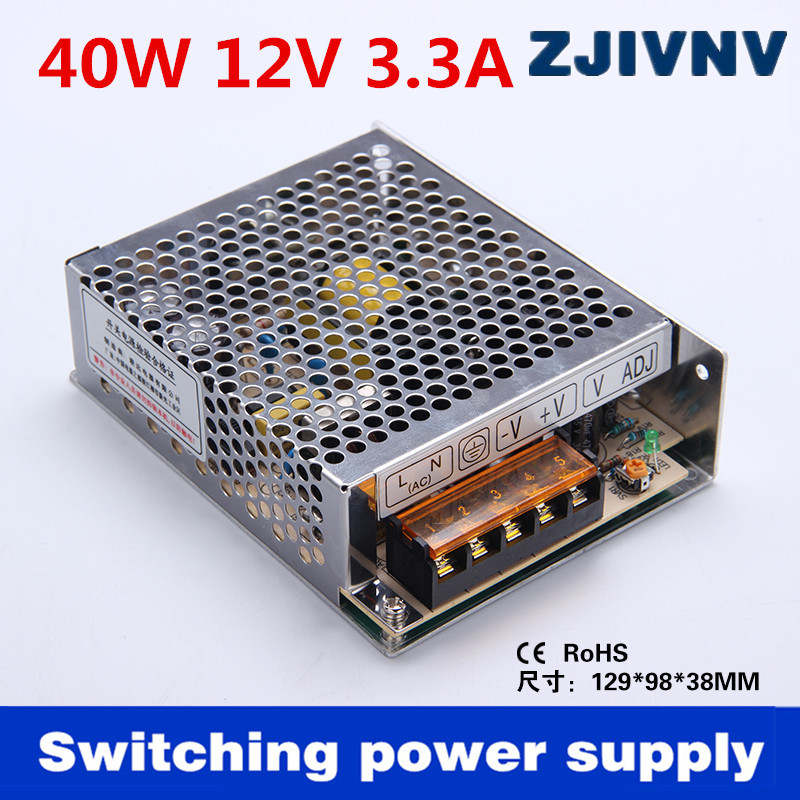 Factory sales directly high quality 40W output:<font><b>12v</b></font> <font><b>3.5a</b></font> Switch mode <font><b>power</b></font> <font><b>supply</b></font> ac dc <font><b>12v</b></font> SMPS input 110/220v (s-40-12) image