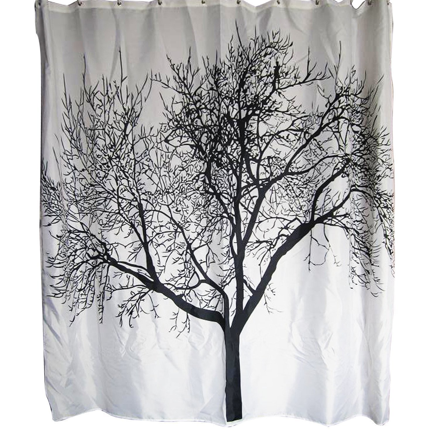 WARM TOUR Tree Design Shower Curtain Waterproof Polyester Bath Hospital Hotel With Hooks Ring 71x 71 Inch In Curtains From Home