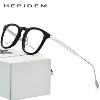 B Titan Optische Gläser Rahmen Männer Acetat 2018 Nerd Runde Marke Designer Brillen Frauen Metall Myopie Brillen