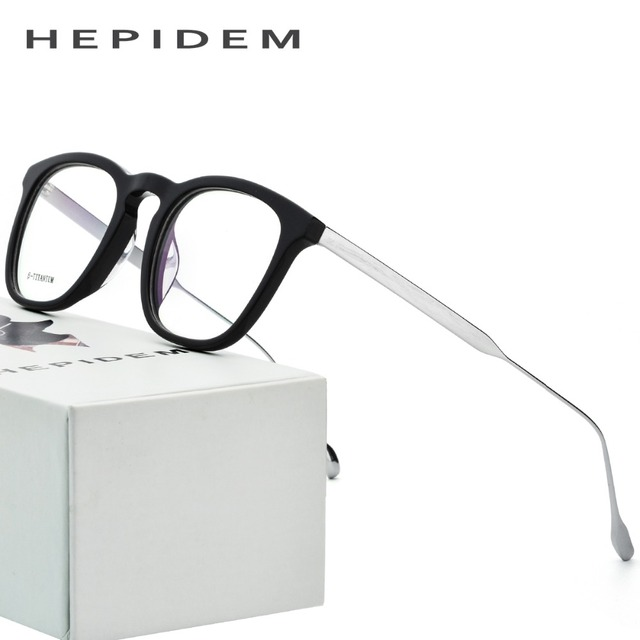 645baeb635 B Titanium Optical Glasses Frame Men Acetate 2018 Nerd Round Brand Designer Prescription  Eyeglasses Women Metal Myopia Eyewear