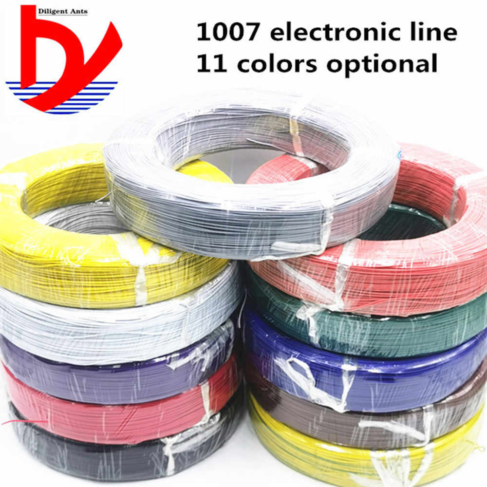 5 m UL1007 fil 24awg 26 28 30 22AWG 18AWG 16AWG PVC câble électronique UL certification