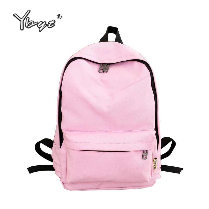 YBYT brand 2018 new preppy style girl rucksack women casual canvas bag ladies simple shopping bag large capacity travel backpack edgy trendy casual canvas backpack men large capacity simple backpack fashion hook buckle travel bag durable rucksack