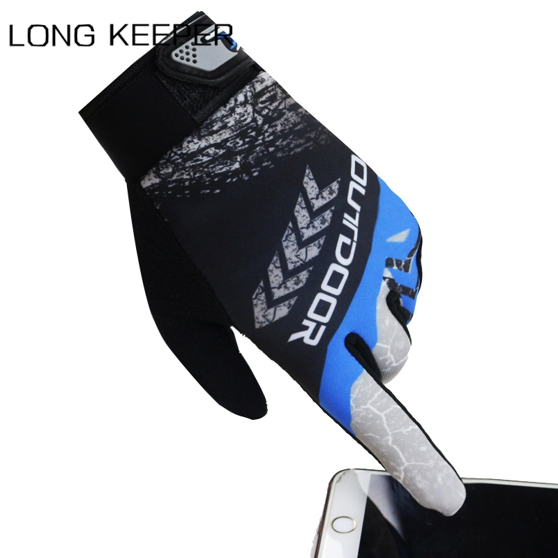 Men's Touch Screen Gloves Full Finger Sunscreen Non-slip Breathable Spring Summer Gloves Outdoor Sports Bike Bicycle Mittens