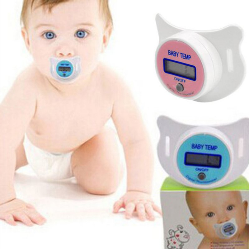 Thermometer for Baby Medical Silicone Pacifier LED Digital Childrens Thermometer Health  ...